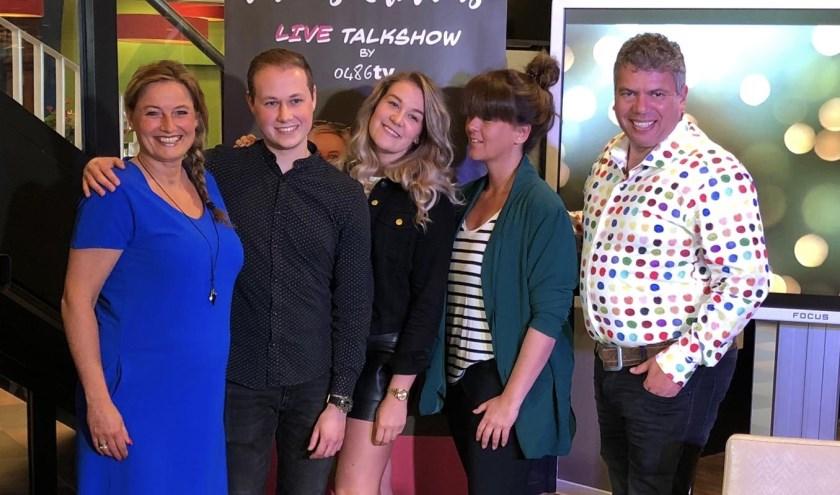 Jolanda en Peter Linders presenteren hun eigen talkshow. (eigen foto)