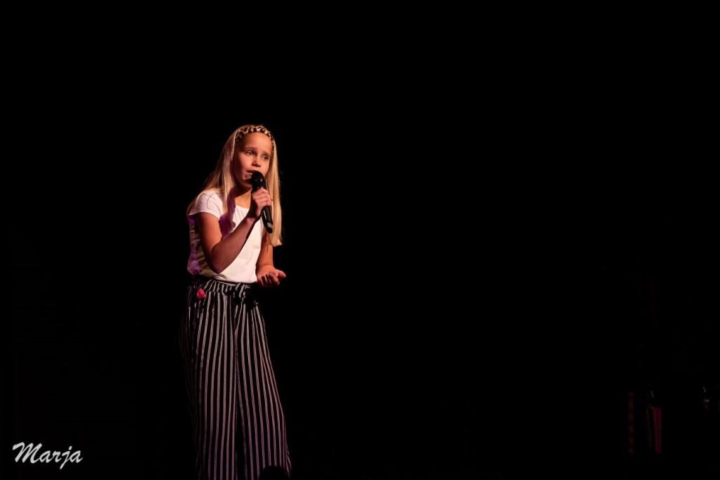 Winnaar van 2e prijs en de publieksprijs: Maureen Sebel. (Foto: Theater 't Web/Marja Koole).  © Persgroep