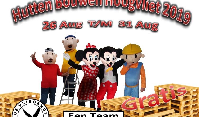 Binnenkort start de inschrijving voor de huttenbouwweek in Hoogvliet.