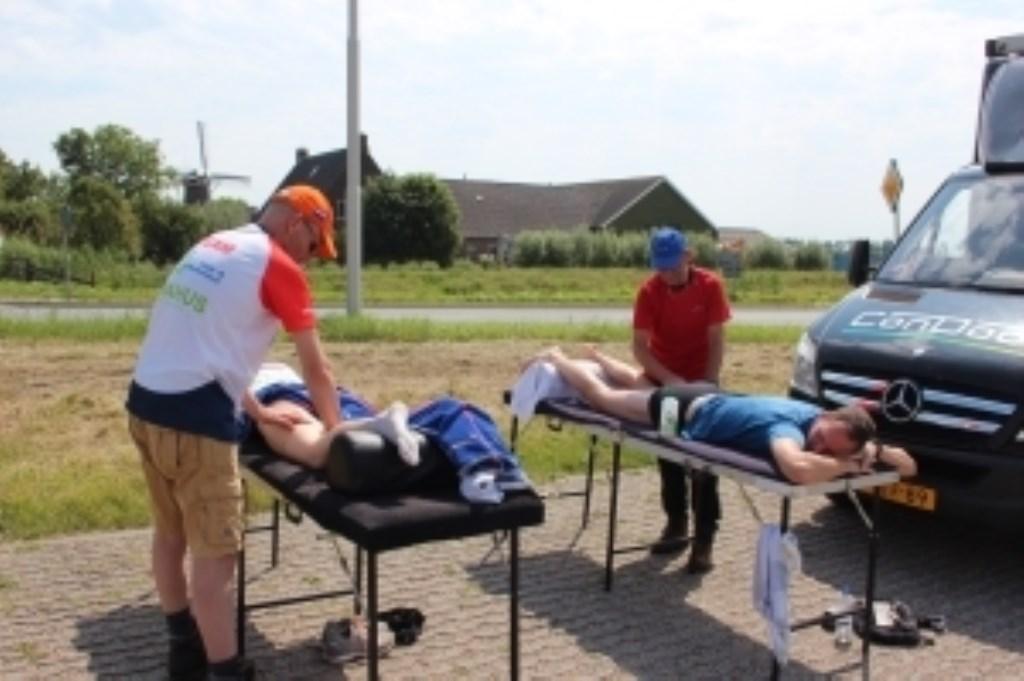 De lopers werden uitstekend begeleid. Een massage zorgde ervoor dat de laatste loodjes minder zwaar wogen.  © Persgroep