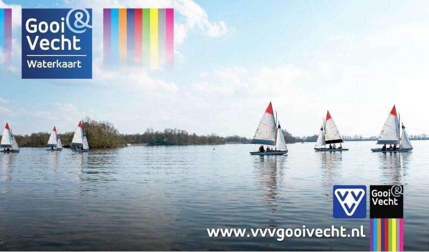 De vernieuwde Waterkaart Gooi & Vecht is gelanceerd. Beeld: DIMAR Design, Dimitri Mau Asam