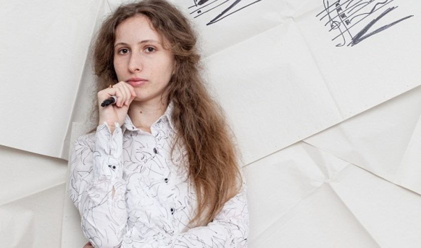 Het werk van Anna Korsun wordt door 22 zangers a capella buiten in het Hemels Gewelf van Kijkduin gezongen.