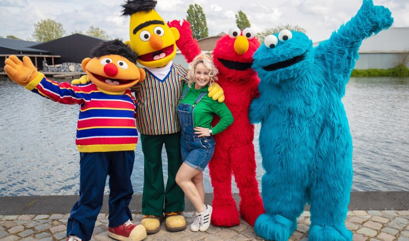 Sesamstraat karakters Ernie, Bert, Elmo en Koekiemonster
