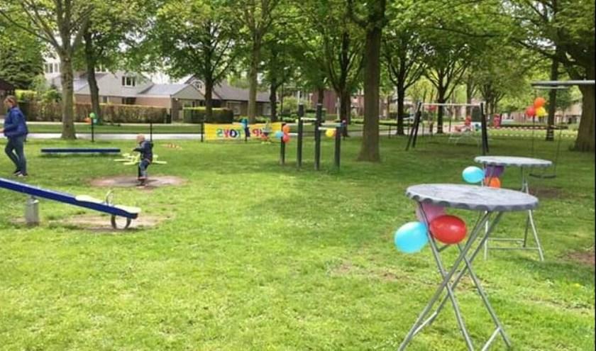 Op 4 mei was de feestelijke opening van speeltuin Strijenlaan