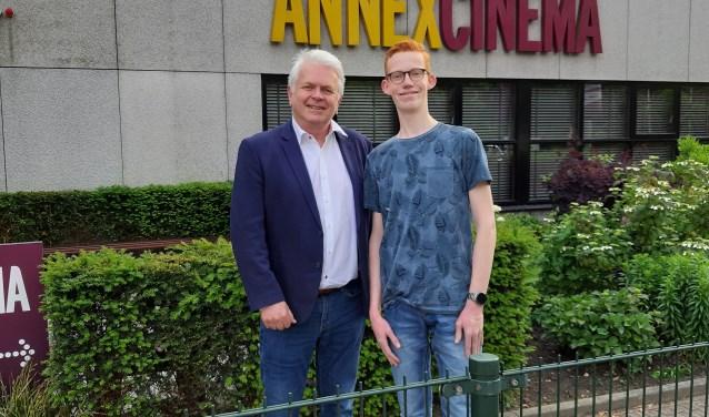 Adriaan Theeuwes bracht een bezoek aan de benefiet filmvoorstelling die Thomas Romers organiseerde bij AnnexCinema.