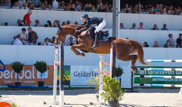 De Duitse Simone Blum en haar topmerrie DSP Alice wonnen vorig jaar de Grote Prijs van Outdoor Gelderland en vrij kort daarna de Wereldruiterspelen. Foto Digishots