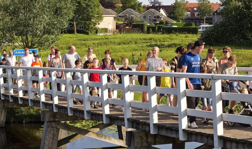 De eerste avond van de 19e editie van de Avondvierdaagse Alblasserdam.