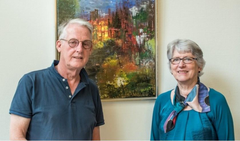 Rinke Slump en Leidi Schwarte exposeren tot eind september bij de Rijssense Muziekschool.