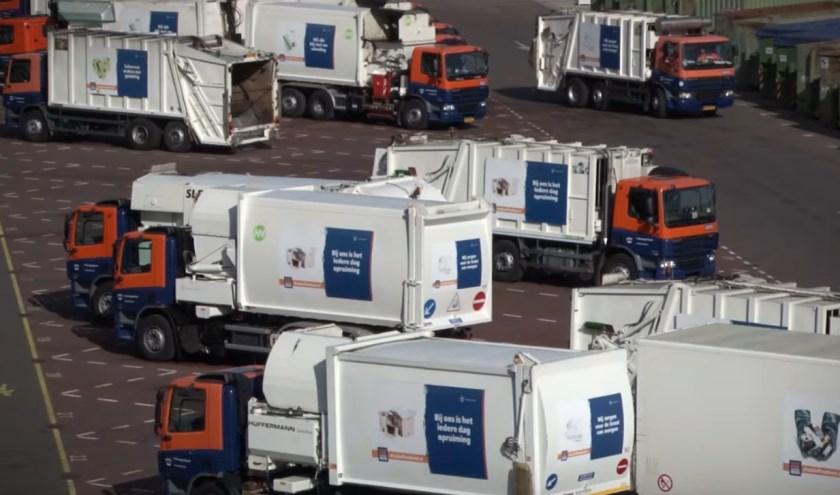Vuilniswagens van de Afvalstoffendienst