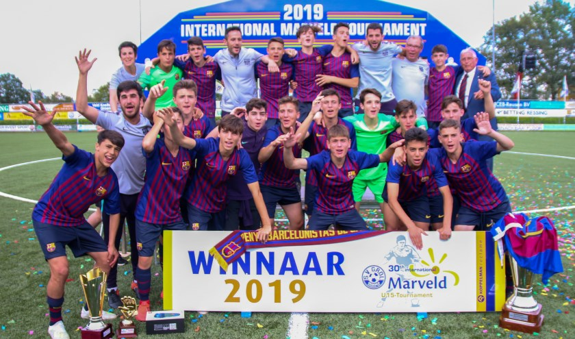 FC Barcelona, de winnaar van het 30e Internationaal Marveldtoernooi.