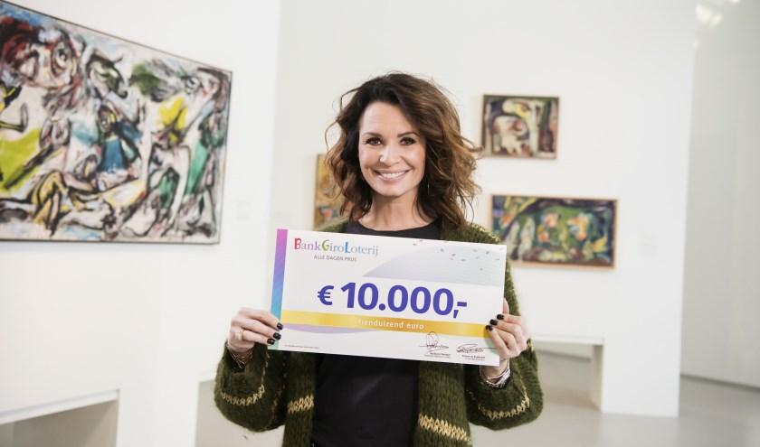 BankGiro Loterij-ambassadeur Leontine Borsato.