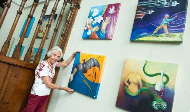 Krijnie Ederveen exposeert vanaf komende donderdag met schilderijen in de Grote Kerk. Ze staat bij een reeks over de Bijbelse figuur David.