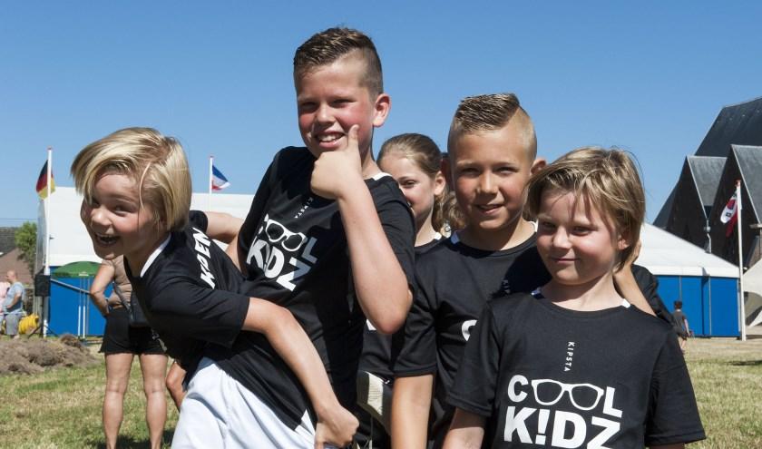 winnaars van het spel Memory, de Cool Kids