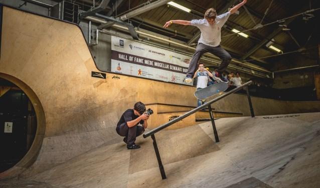 De skateboarddemonstraties worden verzorgd door een rijdersteam van de Hall of Fame. Foto: Ruud van Bragt. Rijder: Magic van Heeswijk.
