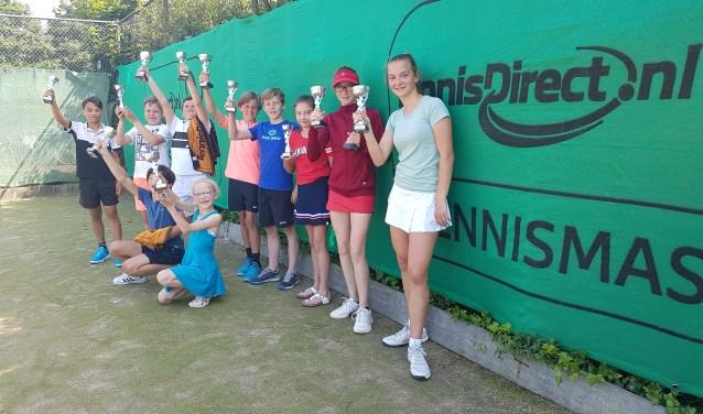 De winnaars van de verschillende onderdelen Foto: TC Leerbroek