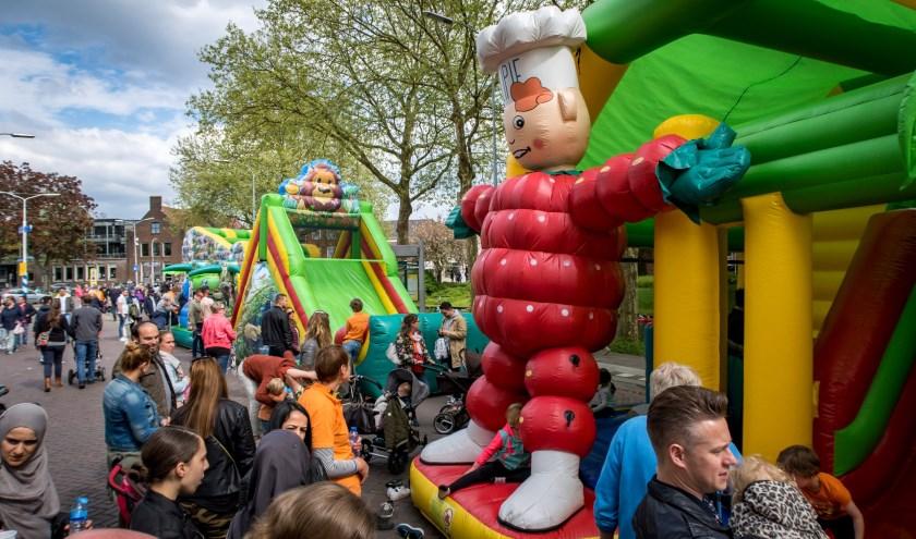Archieffoto van de Kinderspelen aan de Veemarkt op Koningsdag 2018. Foto Jan Bouwhuis.