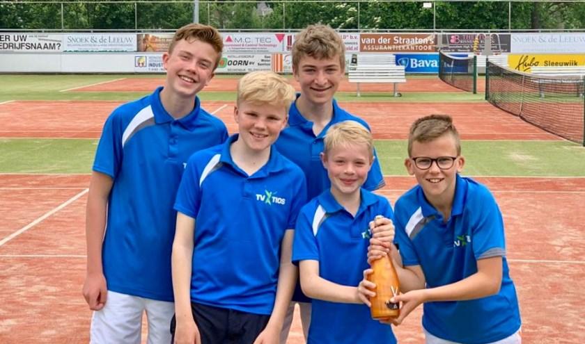 Ook Bart Groeneveld, Bram Reuvekamp, Tom Amesz, Lars Boterblom en Remy de Graaf zich kampioen noemen. Eigen foto