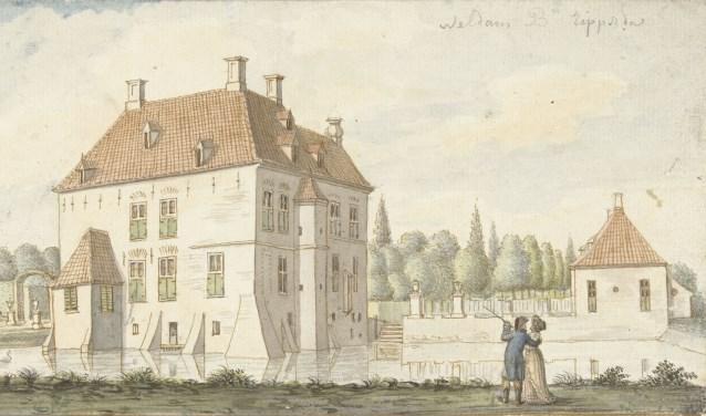 De Weldam in volle glorie eind achttiende eeuw, komt voor het eerst ter sprake rond 1269, toen het waarschijnlijk nog een eenvoudig boerenerf was.