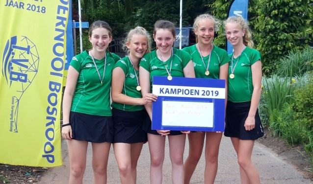 Kampioensteam meisjes t/m 14.