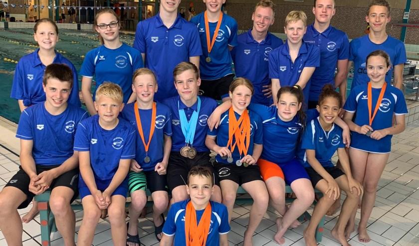 De wedstrijdzwemmers van Njord. FOTO: Njord.