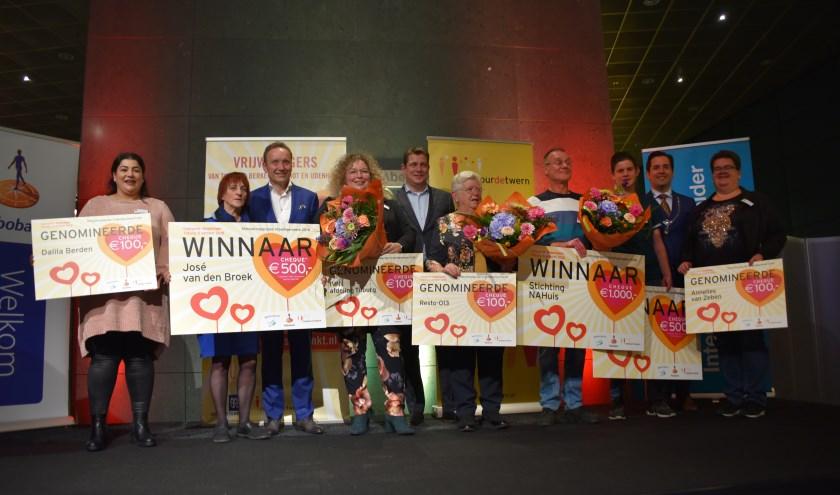 De winnaars van de Vrijwilligersprijzen 2018.