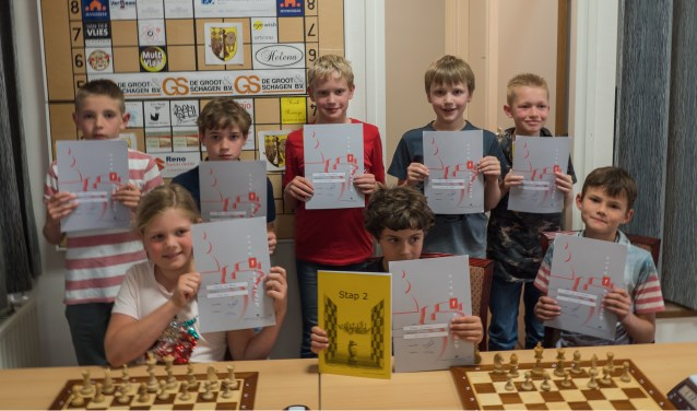 De geslaagden voor schaakdiploma 1. (Foto: Privé)