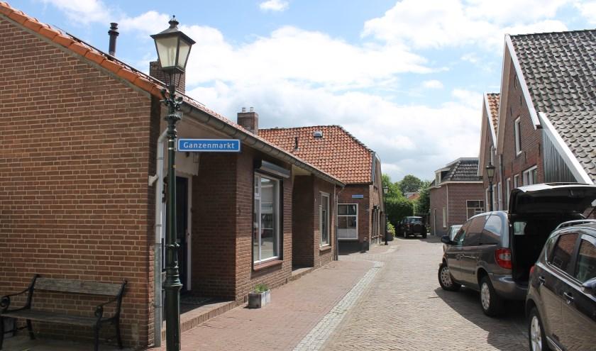 Het bordje van de Ganzenmarkt bij de Hozenstraat, Bredevoort.