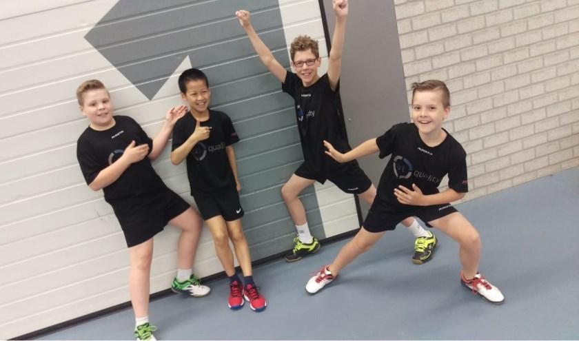 Regiokampioen Jongens U13:Dylan, Kaylen, Louis en Stijn. (foto: pr)