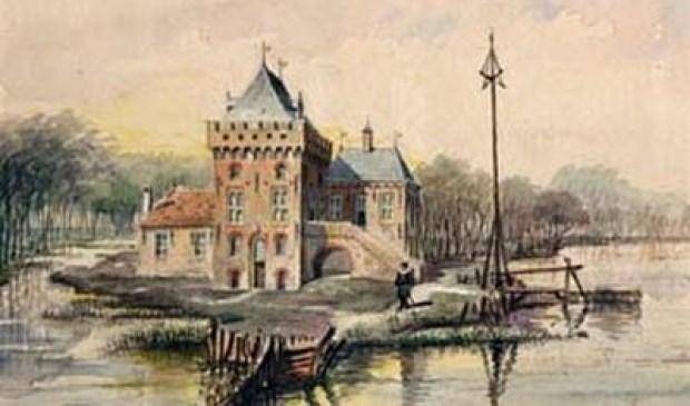 Zo zou het Huis te Krooswijck er uit hebben gezien | Bron: kasteleninnederland.nl