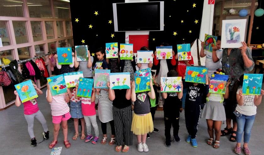KInderkunst van de Arentschool voor Midzomerfestival Kralingen