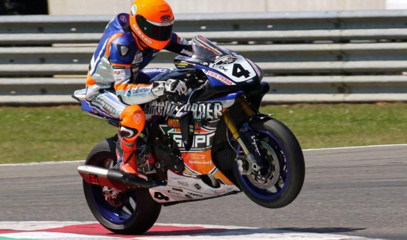 Ricardo Brink in actie op het circuit van Heusden-Zolder