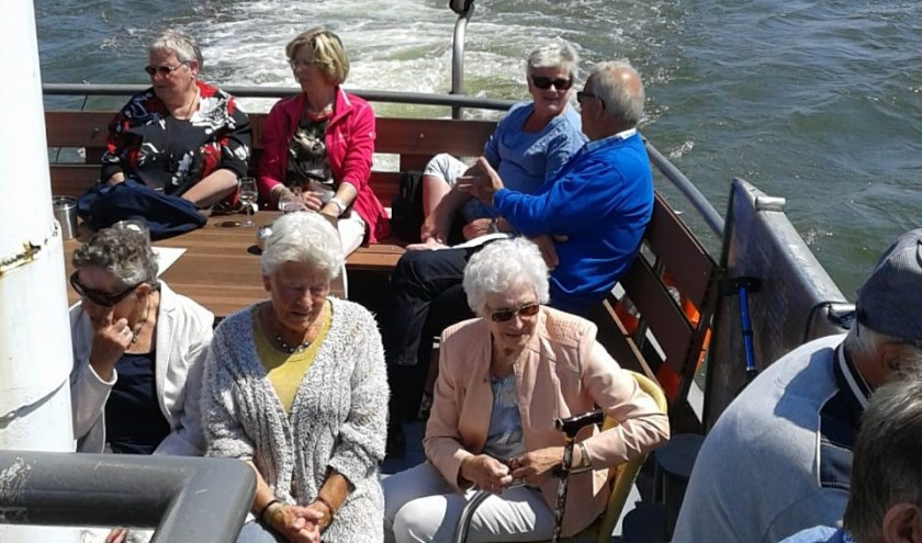 Met 91 gasten op de Partyschip Partycruises werd een mooie tocht gemaakt naar Dordrecht. Eigen foto