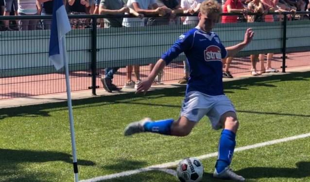 Jos van Milligen was de matchwinner voor VVOP tegen CJVV. Foto: Machiel Fleddérus