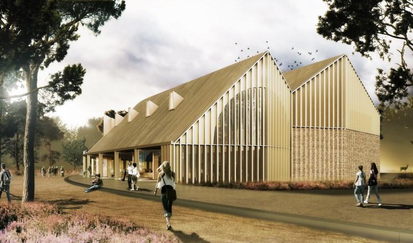Het nieuwe gebouw vormt dé uitvalsbasis voor een dagje Hoge Veluwe.