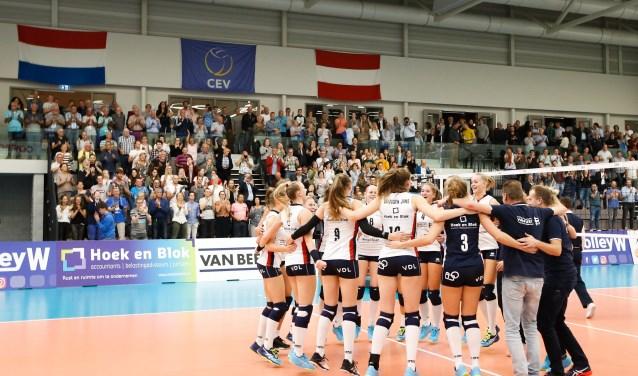 Foto: Sliedrecht Sport won afgelopen seizoen van Graz in de Europacup. (Foto: Pim Waslander)