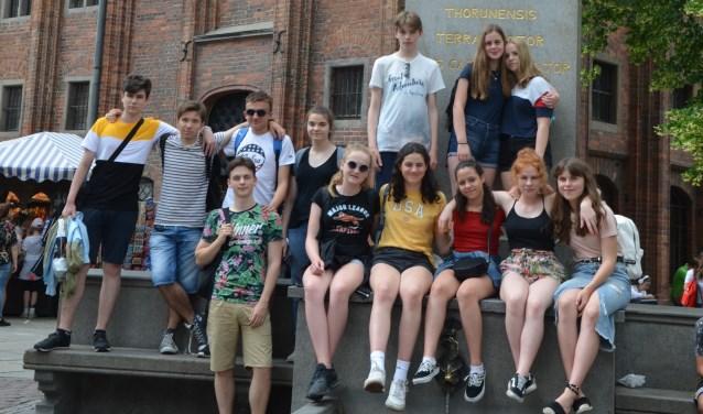 De leerlingen gingen naar de Poolse partnerschool in Naklo nad Notecia. (Foto: Privé)