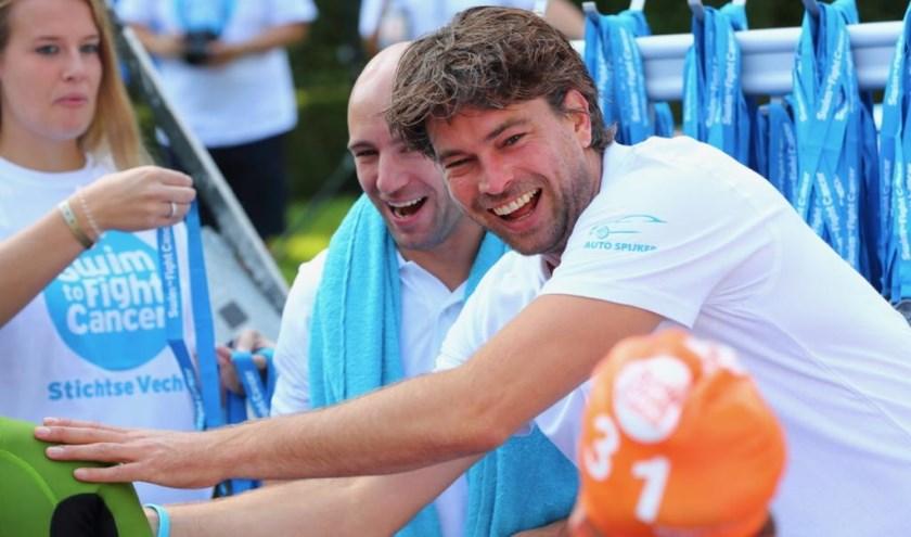 Rick Brandsteder doet mee aan de Swim to Fight Cancer Stichtse Vecht. Eigen foto