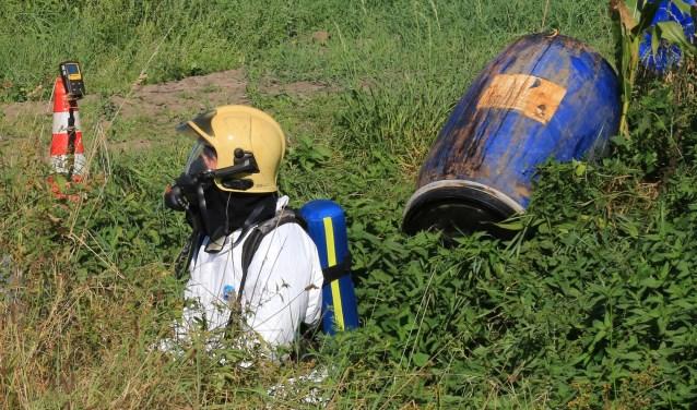 Het dumpen van drugsafval blijft een hardnekkig probleem. In het gecombineerde veiligheidsgebied Brabant Zeeland werden er vorig jaar 122 dumpingen gedaan. Dat brengt gezondheidsrisico's en hoge opruimingskosten met zich mee. Foto: Bert Jansen