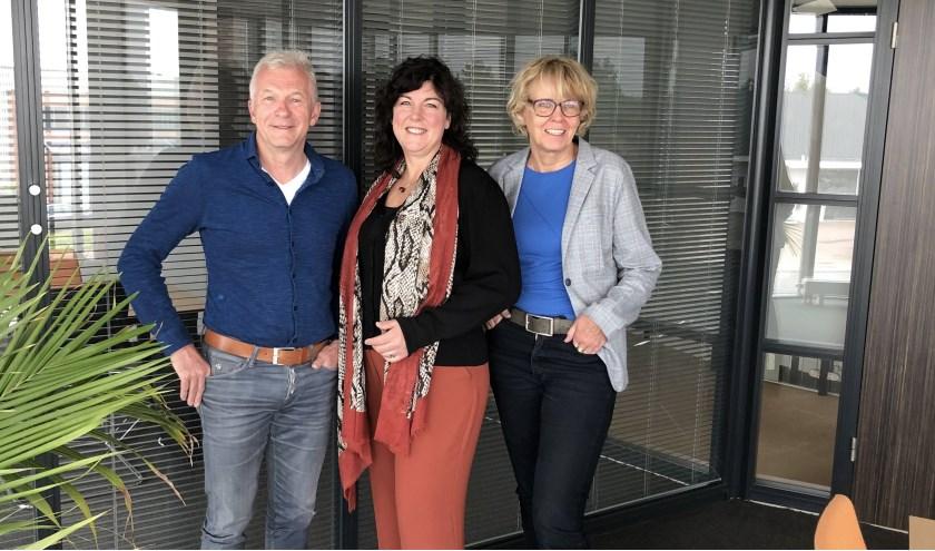 V.l.n.r. enkele coaches: Ibe Bongers, Karin Bolder en Carin Terhorst.