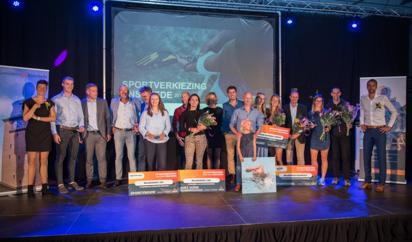 De Enschedese sporthelden van 2018 werden ook in het zonnetje gezet.