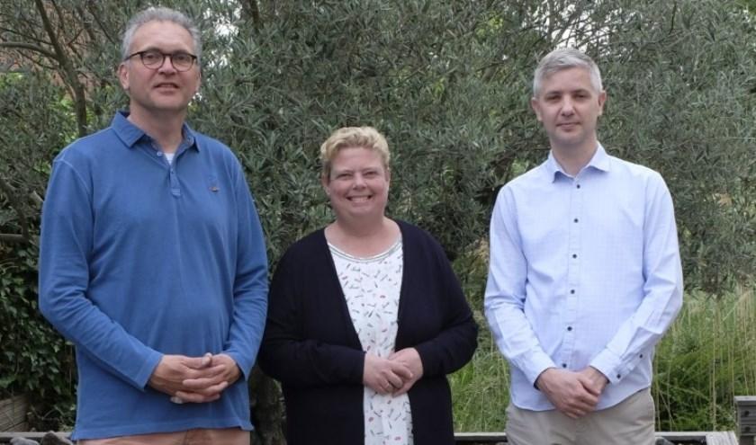 Sander, Jacqueline en Cees van wijkgemeente De Ark.