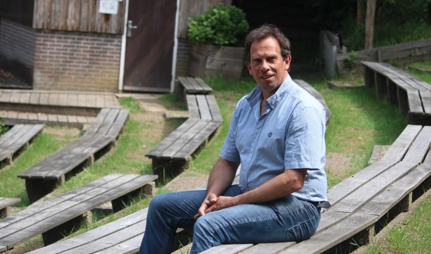 Jan Willem Drost in het Openluchttheater Lochem dat voor hem veel bracht. (Foto: Arjen Dieperink)