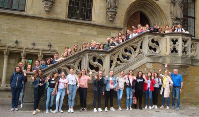 24 leerlingen van het Kalsbeek College bezoeken de partnerschool in het Duitse Steinhagen.