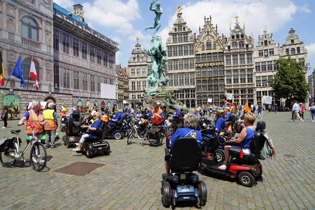 Grote Markt met beeld van Brabo Foto: P.v.d.Rovaart © Persgroep