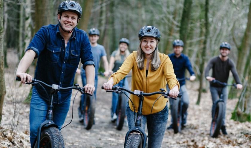Klimrijk biedt veel vertier. En sinds kort hoort daar het crossen op e-bikes bij. FOTO: Jeroen Floor.
