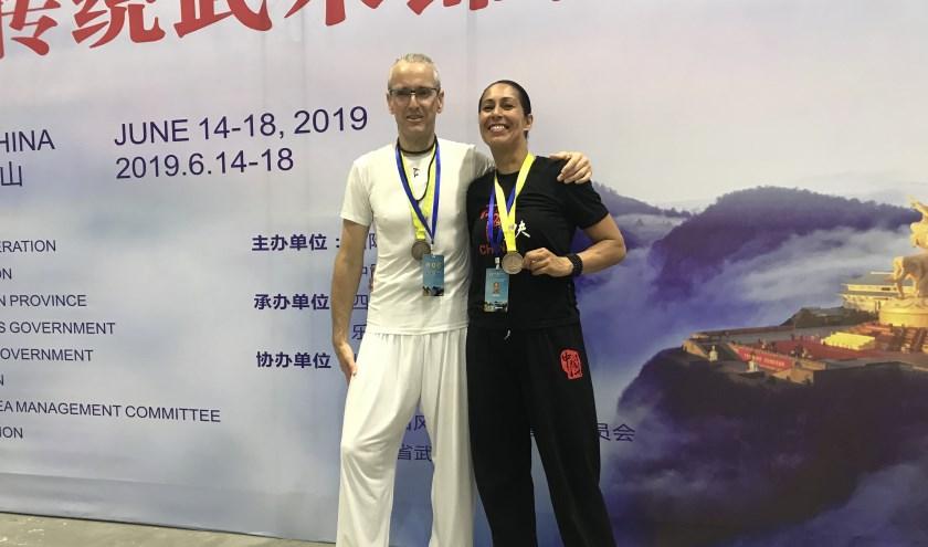 Douwe Geluk en Laura Bonthuis trots op Brons