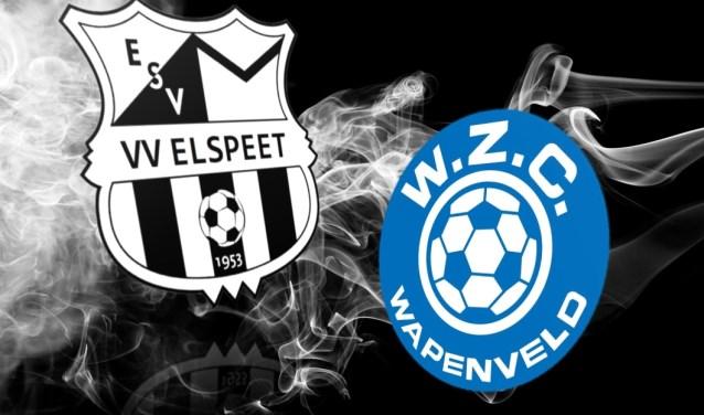 Beslissingswedstrijd nacompetitie WZC Wapenveld tegen Elspeet op sportpark De Heughte