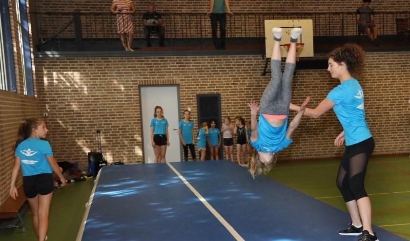 Turnen op hoog niveau maar ook recreatief. (foto Marco van den Broek)