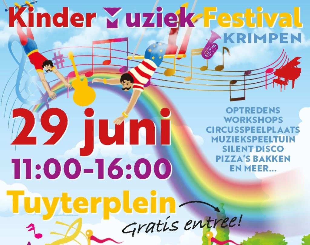 Aankondiging Kinder Muziek Festival Krimpen 2019. Foto: n.v.t. © Persgroep
