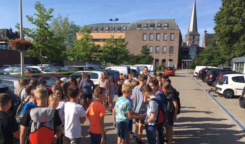 De Paus Joannesschool kreeg vorige week een groep van twaalf leerlingen van de Anne Frank Realschule uit Ahaus op bezoek.